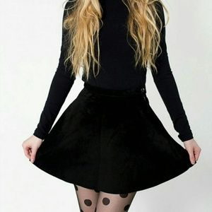 American Apparel Black Suede Skirt